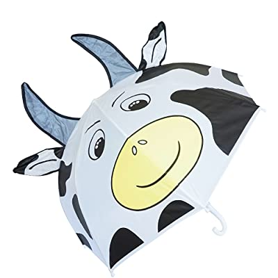 Kiddi Choice 3D PopUp Milk Cow Cute Umbrella, White: Toys & Games