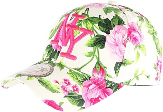 Gorra NY Beige y Rosa con Flores Fashion Bora – Unisex Rosa Talla ...