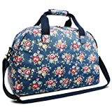 Oflamn 29L Large Floral Duffle Bag Water Resistant Canvas Travel Weekender Overnight Gym Bag for Women For Sale