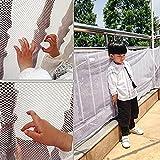 Yeefant - Red protectora de seguridad de cuadrícula pequeña para escaleras y balcones, duradera y resistente al desgaste, puerta de seguridad para bebé, firme y eficaz protección, 199.90 cm x 76.96 cm, color blanco