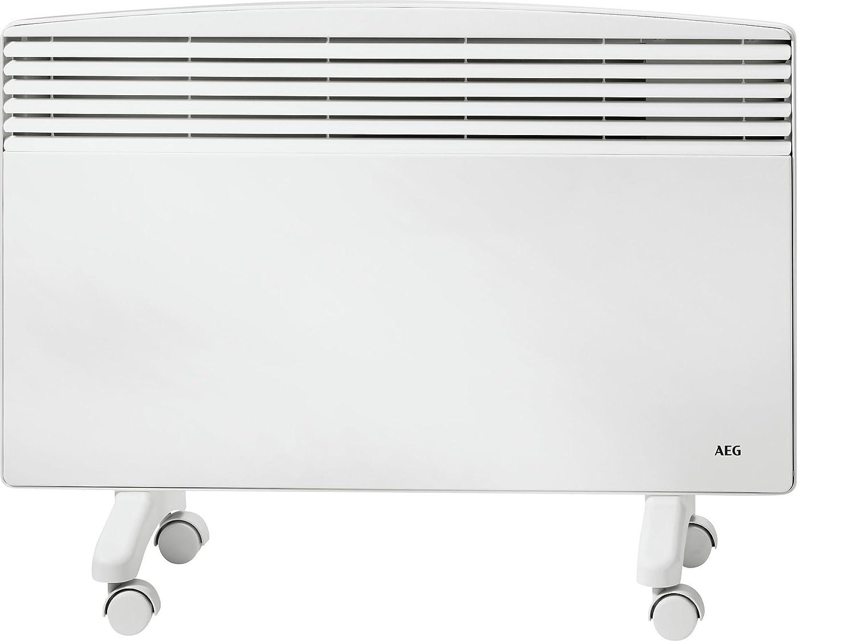 AEG  Standkonvektor mit Rollen WKL 1003 F fü r ca. 10 m² , Heizung 1 kW, Umkippschutz, TÜ V/GS, 229797 EG Haustechnik