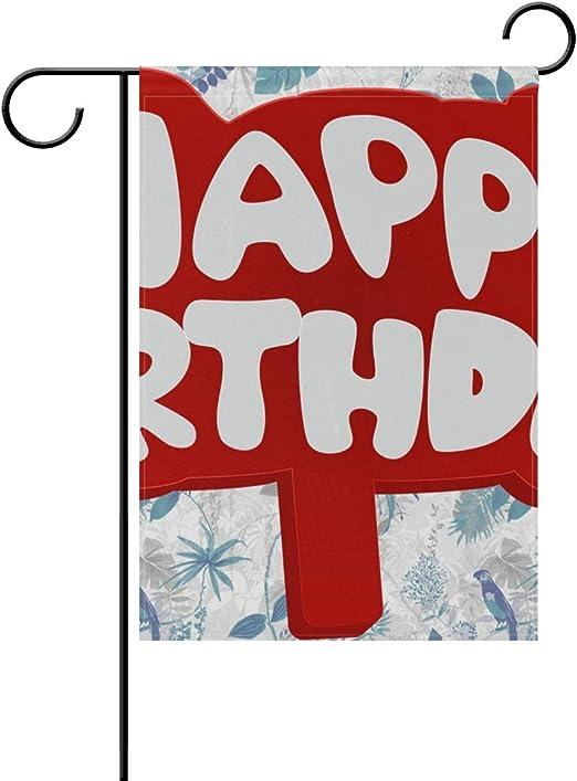 FriendShin – Bandera de jardín de Feliz cumpleaños, Gruesa ...
