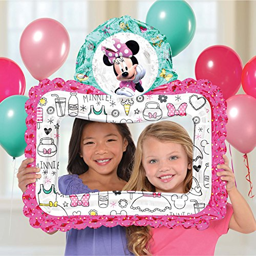 Anagram International, Inc. 92041 Minnie Happy Helpers Selfie Frame - Consumer Inflated Party Balloon 27