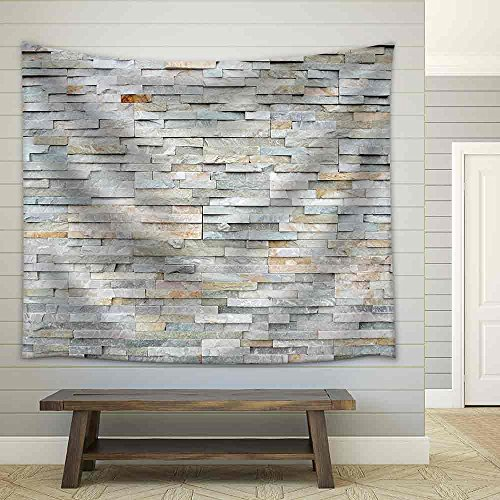 wall26 - Stone Wall Background - Fabric Wall Tapestry Home Decor - 51x60 inches