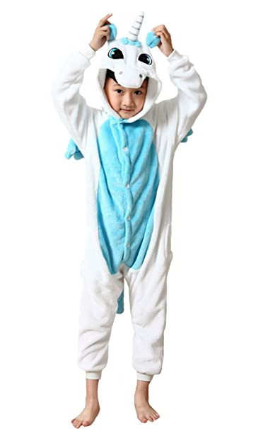 e679edf13d8d Kids Sleepsuit Unicorn Onesie Pajamas Cosplay Costumes Boys Girls ...