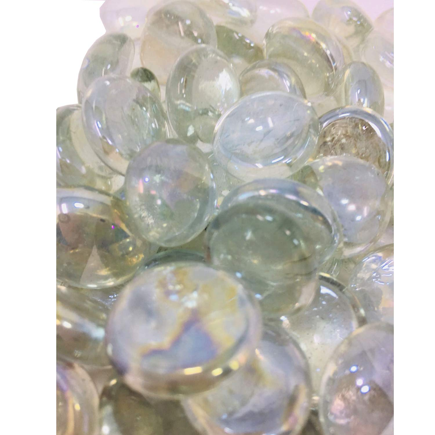 1Kg Decorative Round Clear Mixed Size Glass Pebbles/Nuggets..12-20mm by Generic: Amazon.es: Hogar