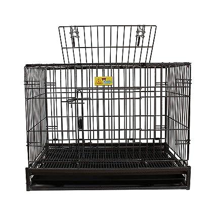 QNMM Jaula para Perros con cercado de Mascotas con tragaluz Cajón metálico Plegable para Perros Perrera
