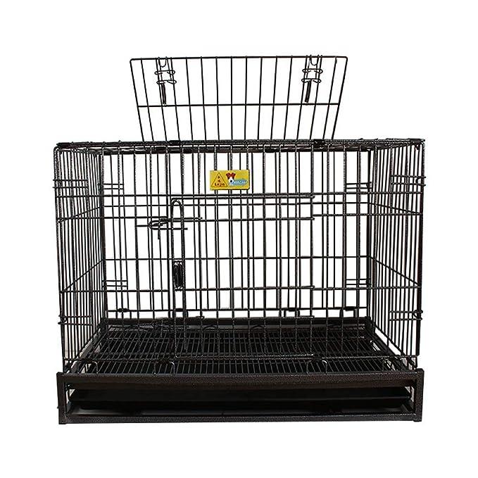 QNMM Jaula para Perros con cercado de Mascotas con tragaluz Cajón metálico Plegable para Perros Perrera Mascotas de tamaño pequeño a Mediano y Otras ...