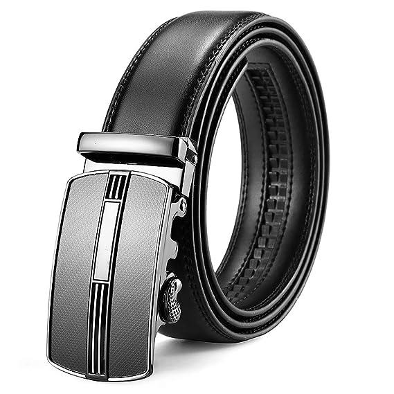 8fd7c40cda97a6 XIANGUO Ceinture homme en cuir avec boucle automatique ceinture exquise  ceinture chic ceinture mode ceinture Casual