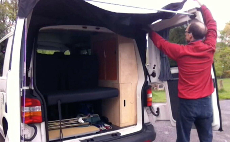 Kiravans - Toldo para puerta de furgonetas europeas y británicas con alerón, (T5) VWT5 y VWT6