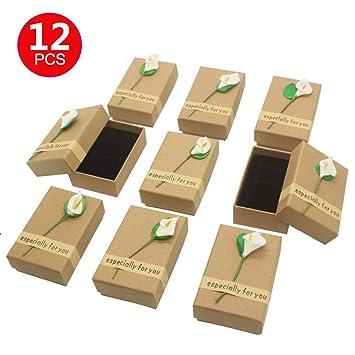 Amazon.com: MTXTOP - 12 cajas de regalo con diseño de kraft ...