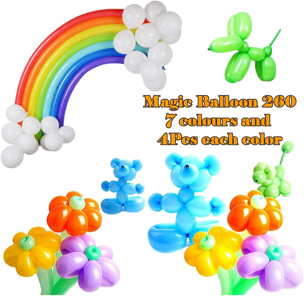 Unicorn Rainbow Balloons-143PCS YAWOOYA Unicorn Laser Foil Balloon and Latex Twisting Magic Long Balloons for Birthday Party Decoration Kit
