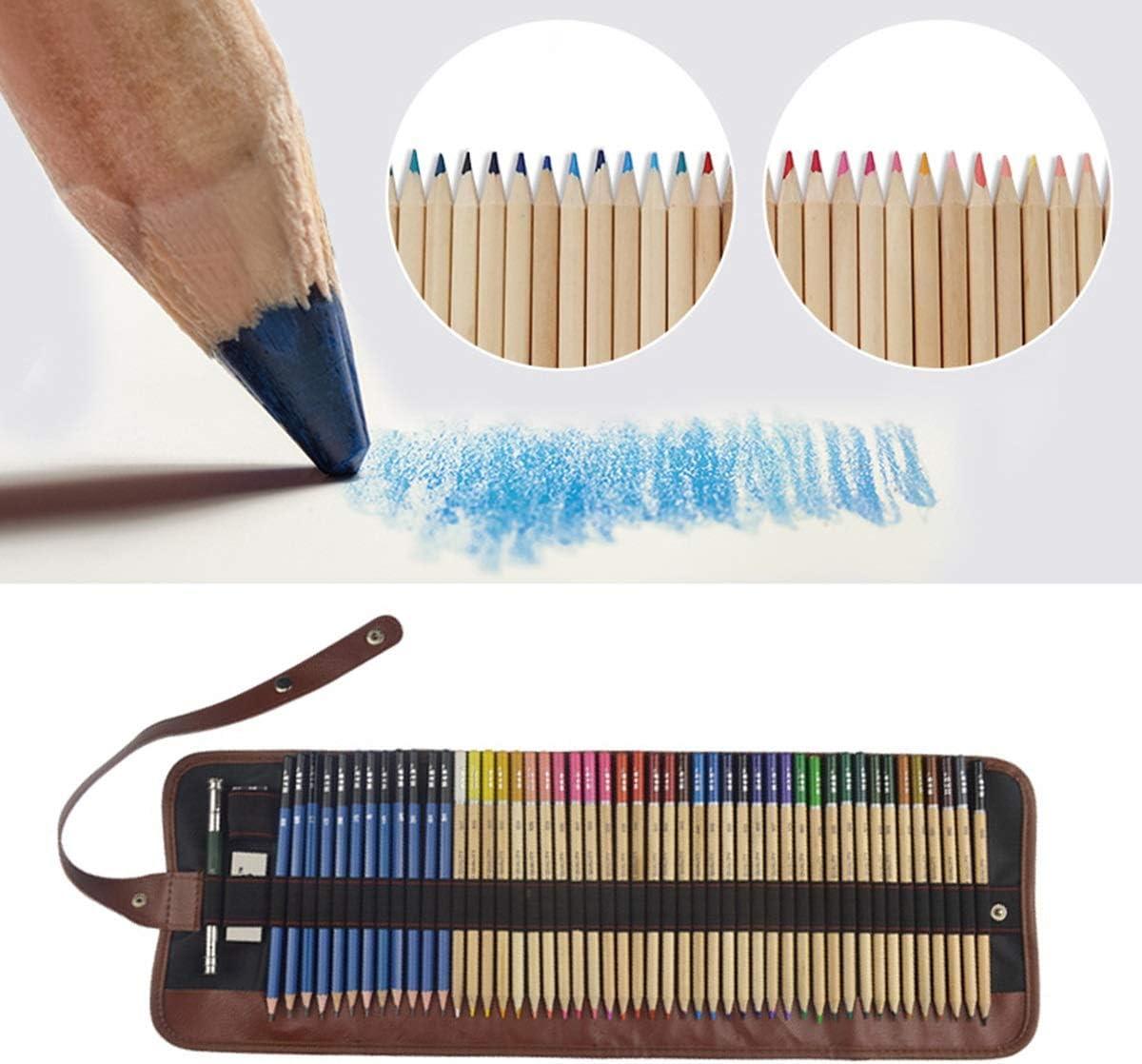 36 Colors DEALPEAK 52Pcs//Set Colored Pencils Art Drawing Coloring Sketch Pencil Kit with Sharpener Coloring Supplies