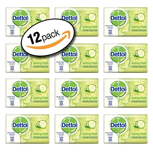 Dettol Antibacterial Lasting Fresh Bar Soap 105g (12 Pack)
