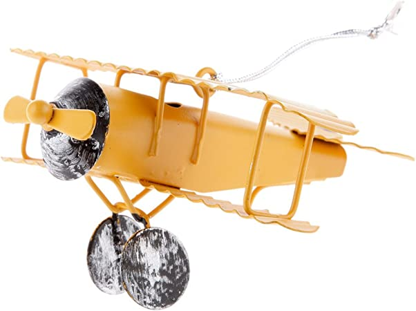3Pcs Metal Biplane Airplane Plane Model Mini 9x10x4.5cm for Kids Playing Toy