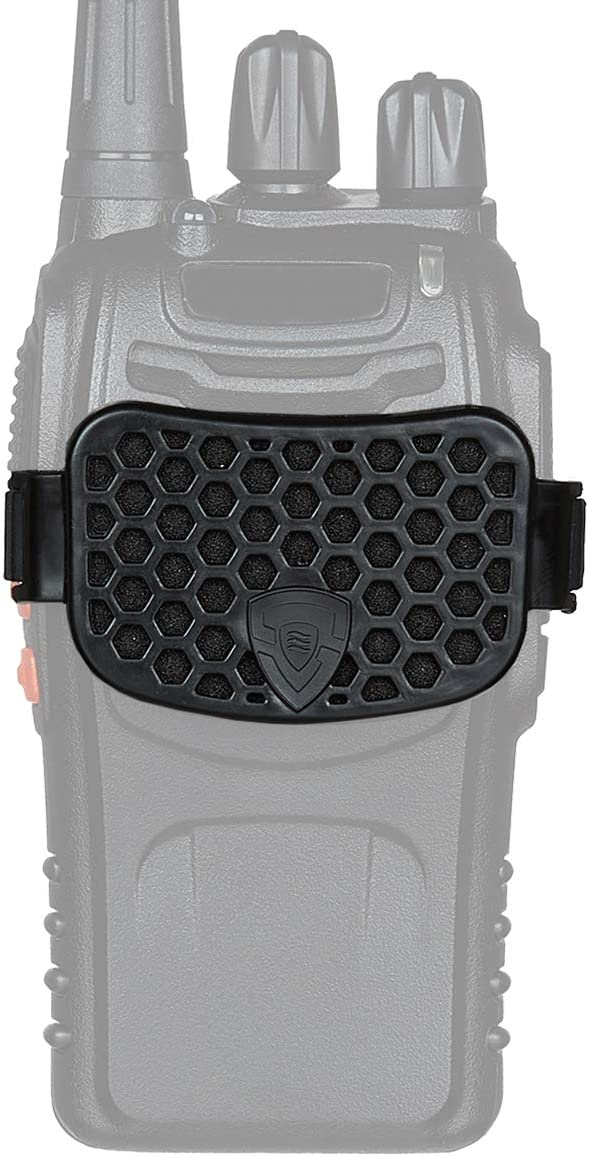 Sahara Shield Radio Cover 2-Way Radio Cover Shield Universal Fit Radio Guard Wind, Dirt and Debris Protection for Walkie Talkie Station Ideal for Construction Workers and Railroad Operators