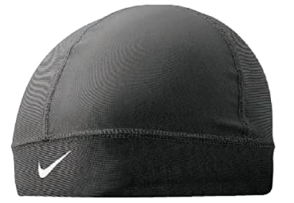 8e8a03eb Amazon.com: Nike Pro Combat Skull Cap (Black/White, Osfm): Sports ...