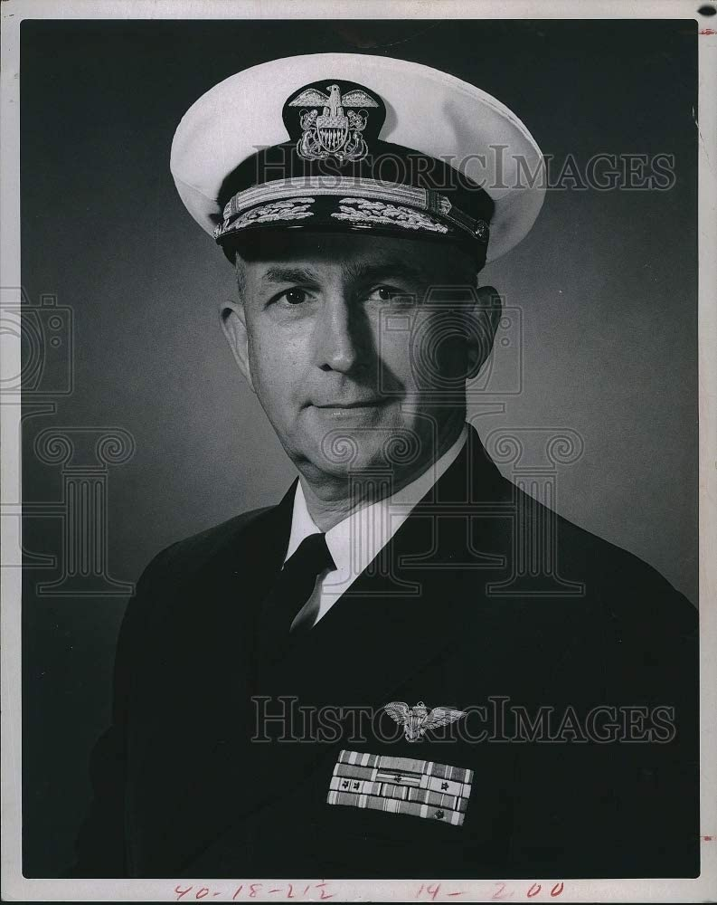 Vintage Photos 1967 Admiral Thomas H Moorer Navy Chief 8 X10.25 Inches