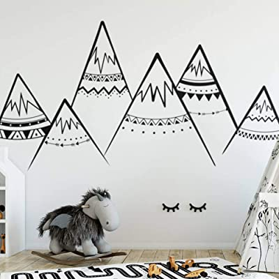 HDWPSHHY Tribal Mountains Wall Decal Nursery Vinyl Wall Stickers Kids Room Decor: Kitchen & Dining