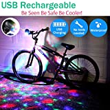 WopWorths Bike Disco Light, Color Changing LED Cycling Headlight Rechargeable