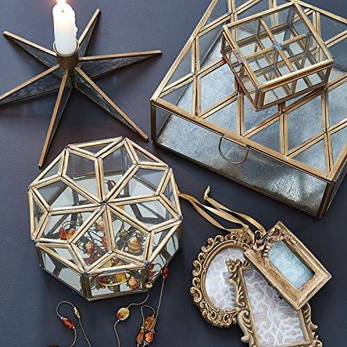 Gita latón cristal octogonal caja para abalorios, joyería o ...