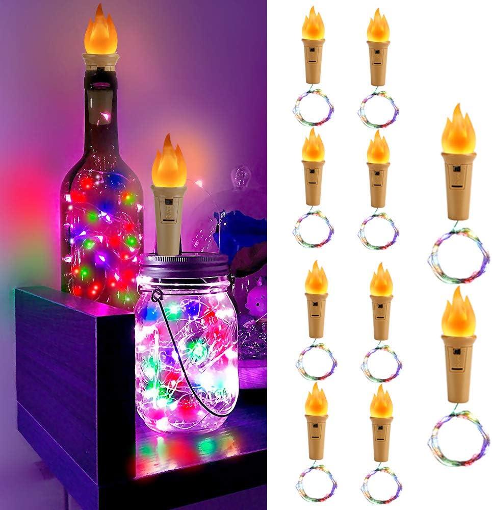 10 Pezzi 20 LED 2M LED Luci Bottiglia Powcan Luce Per Bottiglia Luci Bottiglie Con Tappo In Sughero Per Matrimonio Fai Da Te Festa Di Natale Illuminazione Decora Le Luci Dellumore