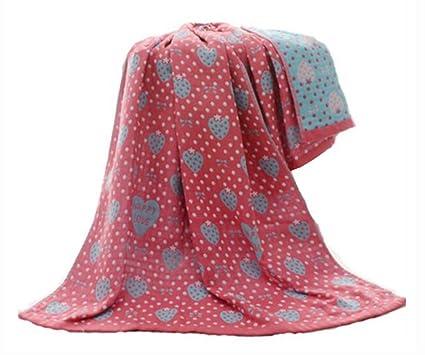 Juego de 2 toallas absorbentes duras para niños, toallas de fresa