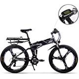 RICH BIT - Motor eléctrico para Bicicleta (250 W, 36 V x 12,8 Ah, batería de Litio de 40 – 60 km, Plegable, e-Bike MTB, Bicicleta de montaña, Shimano 21 velocidades)