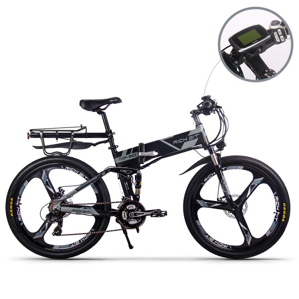 XHN 電動アシスト自転車 26インチ 折りたたみ MTB 12.8AHバッテリー付き 日本の法律に合う B078XTQ6YYグレー