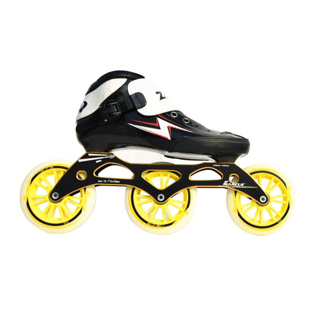 ailj スピードスケートシューズ90MM-110MM調整可能なインラインスケート ストレートスケートシューズ 3色 色 : Red サイズ さいず お買い得 新作 人気 EU 43 US 5 いえろ゜ イエロー 9 UK B07HTN2ZCV 26.5cm 10 6 JP 38 24cm