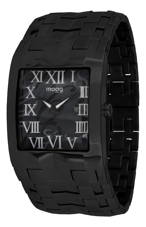 Moog Paris Jewel Rain Reloj para Mujer con Esfera Negra