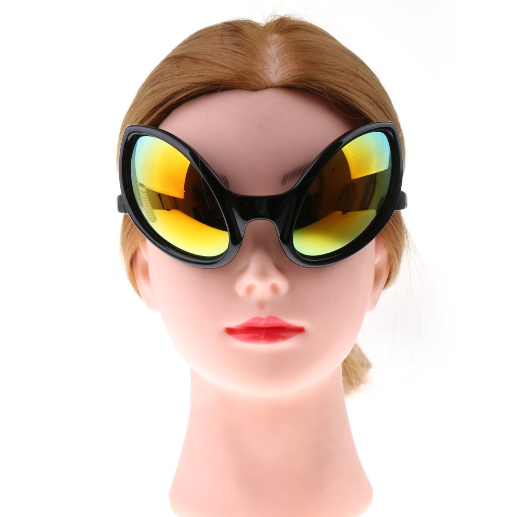 D DOLITY Gafas de Noche de Carnaval Gafas de Extranjero para Adultos Accesorio de Disfraces de Halloween Negro