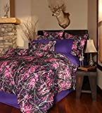 Carstens Muddy Girl Camo 4 Piece Comforter Bedding Set, Queen