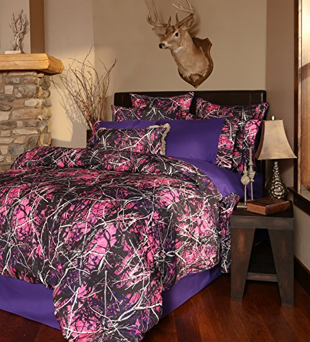 - Carstens Muddy Girl Camo 4 Piece Comforter Bedding Set, Queen