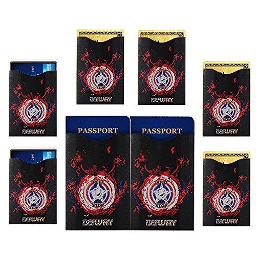 DEW Travel Passport Holder Stash Hidden Neck Pouch RFID Blocking Travel Anti-Theft Hidden Wallet for Security,Water Resistant Pocket Pouch Neck Passport Wallet (8 Pcs Card - Card Cac Discounts