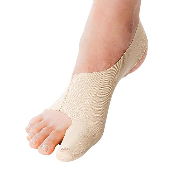 Corrector de juanetes ultrafino. Alivia juanetes leves o moderados (hallux valgus). Coloca suavemente el dedo gordo del pie.