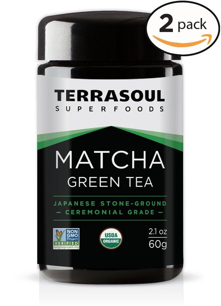 Terrasoul Superfoods Organic Matcha Green Tea (Ceremonial Grade in Miron Glass), 4.24 Ounces (120g)