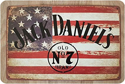 Jack Daniel/'s Whiskey Vintage Retro style Advertisement Metal Sign man cave shed