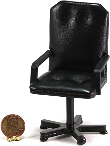 Dollhouse Miniature Office Swivel Chair