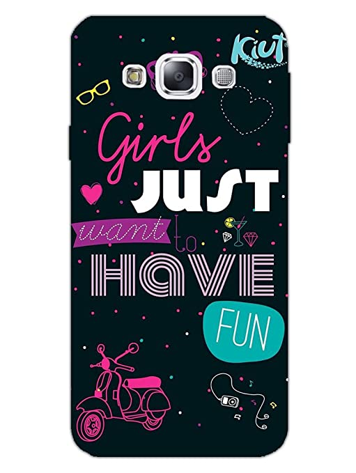 cheap for discount 31bc9 9d497 Samsung E5 Back Cover - Girls Just Want to Have Fun: Amazon.in ...