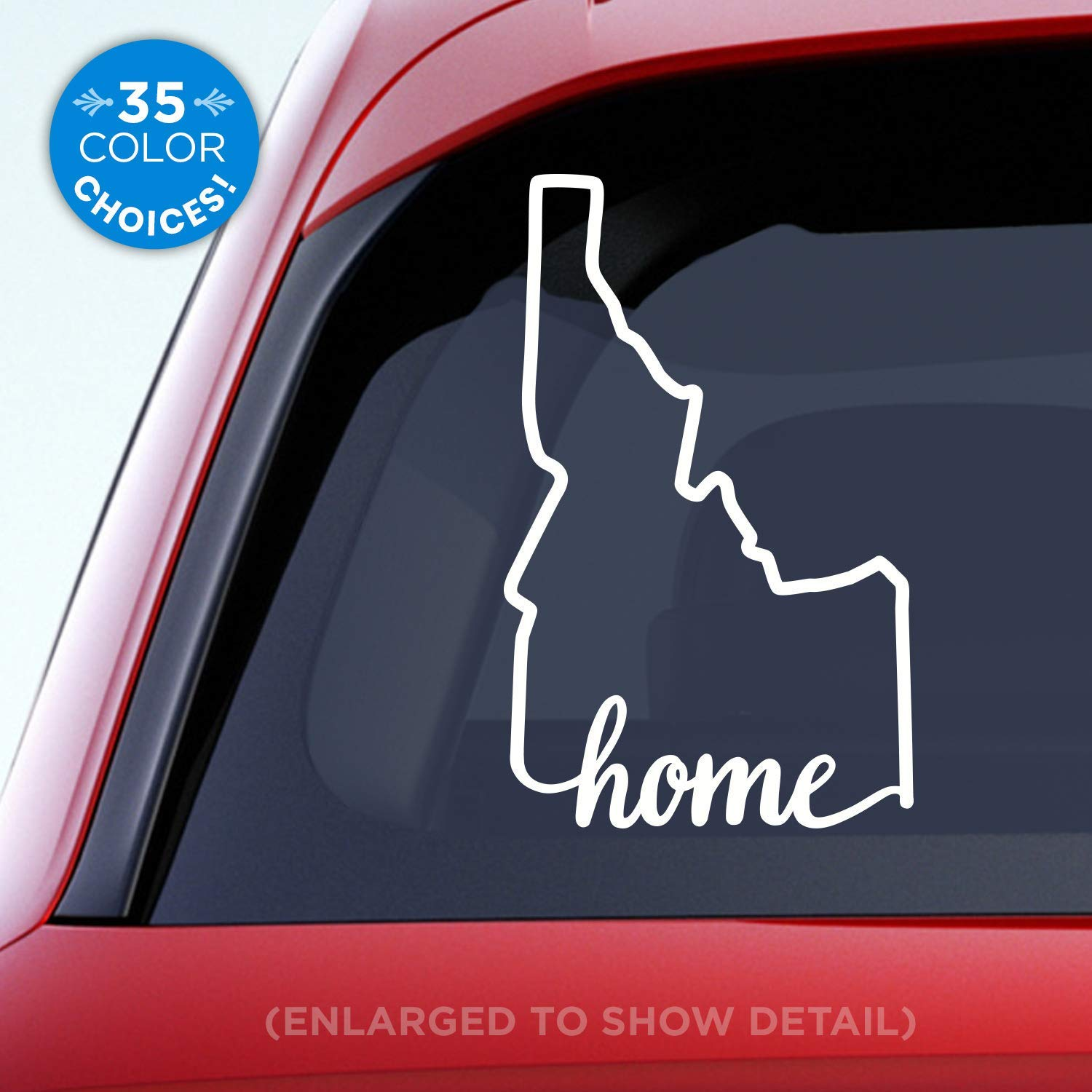Idaho state home decal id home car vinyl sticker add a heart over boise meridian nampa coeur dalene idaho falls