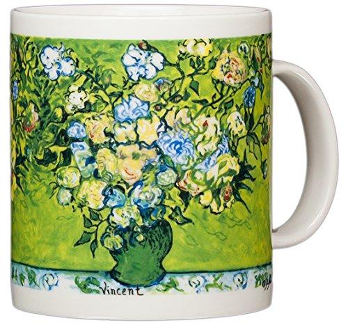 - Vincent Van Gogh - Vase of Roses - 14oz Coffee Mug