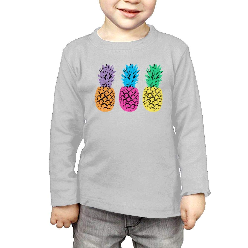 Fryhyu8 Baby Girls Childrens Pride Pineapple Printed Long Sleeve 100/% Cotton Infants Tee Shirt