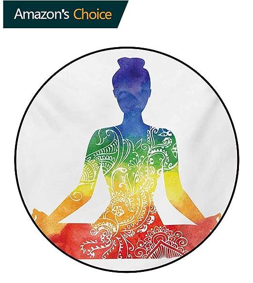 RUGSMAT - Alfombra para Yoga, Sedosa, Suave, con Flores de ...