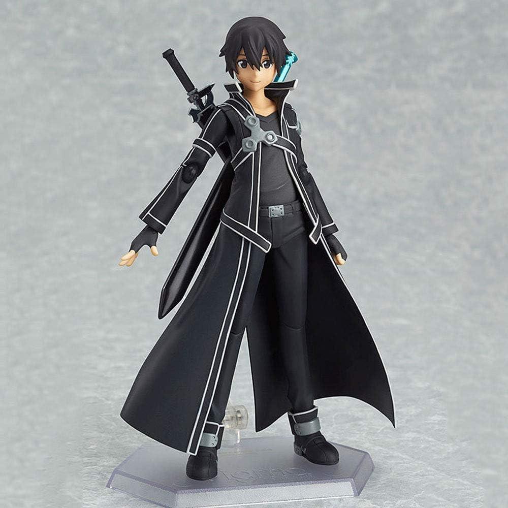 QIYHB 15CM Sword Art Online, Sao Anime Figuras Espadas Kirito Kiritani Kazuto Acción Edición Premium Esculturas Adornos Estatuas Muñecas Modelos Juguetes