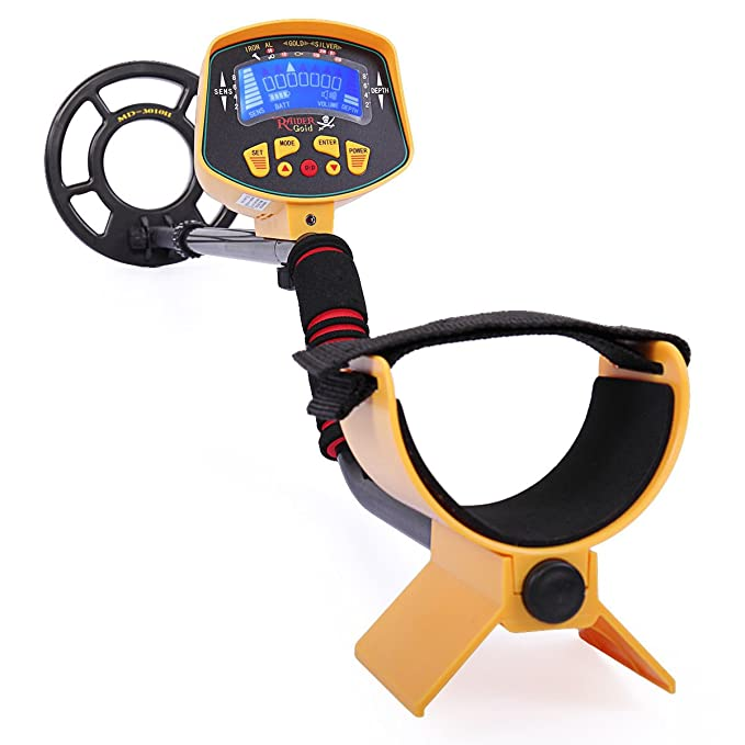 Amazon.com : JAXPETY MD-3010II Metal Detector Gold Digger Light Hunter Deep Sensitive Search LCD : Garden & Outdoor