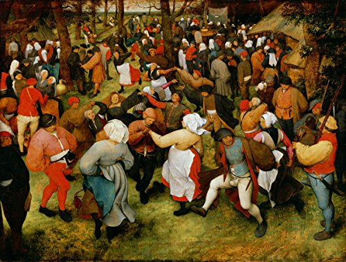 Quality Prints - Laminated 27x21 Vibrant Durable Photo Poster - The Wedding Dance Pieter Bruegel The Elder (The Wedding Dance Pieter Bruegel The Elder)