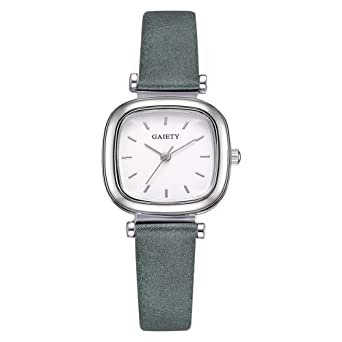 Reloj Mujer Reloj de Cuarzo Analógico Redondo Reloj de Acero ...
