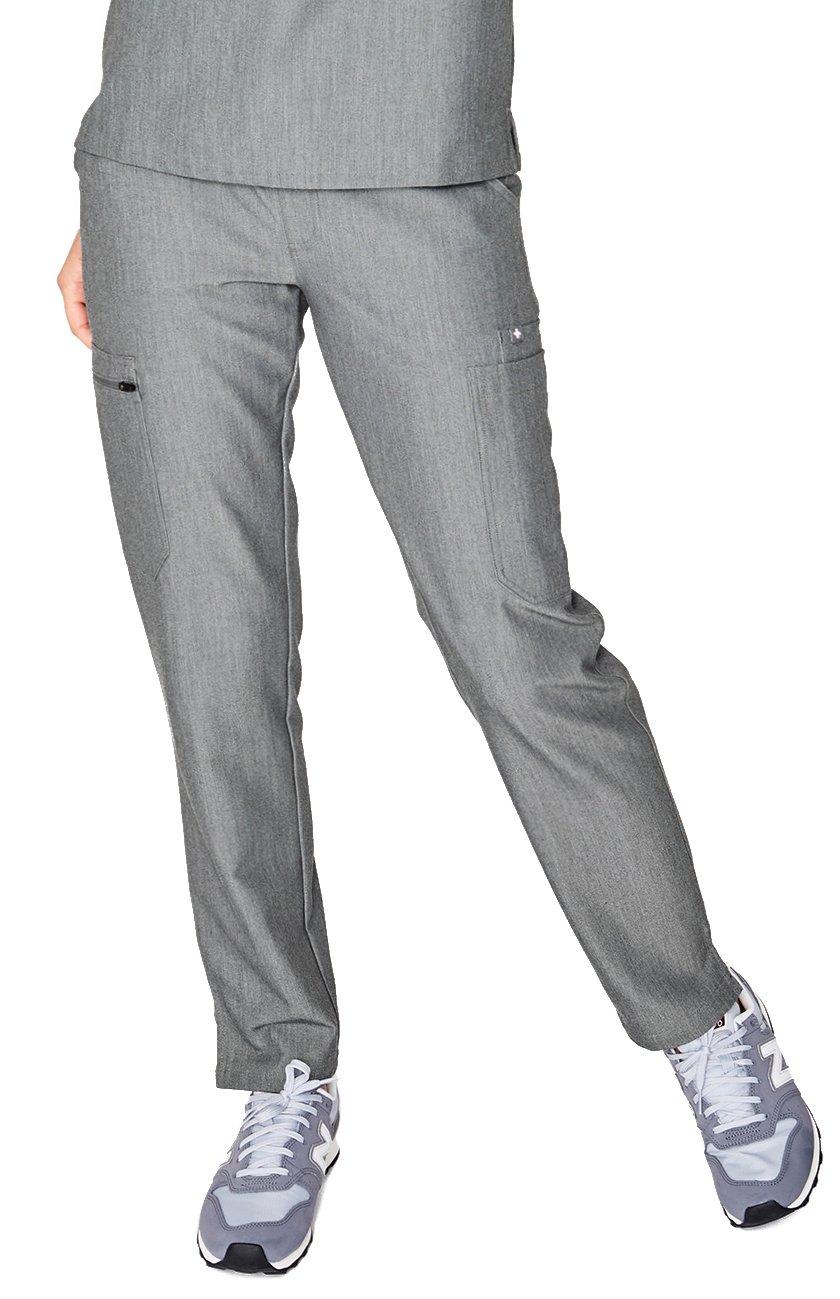 FIGS Medical Scrubs Women's YOLA Skinny Pants (Graphite, M)