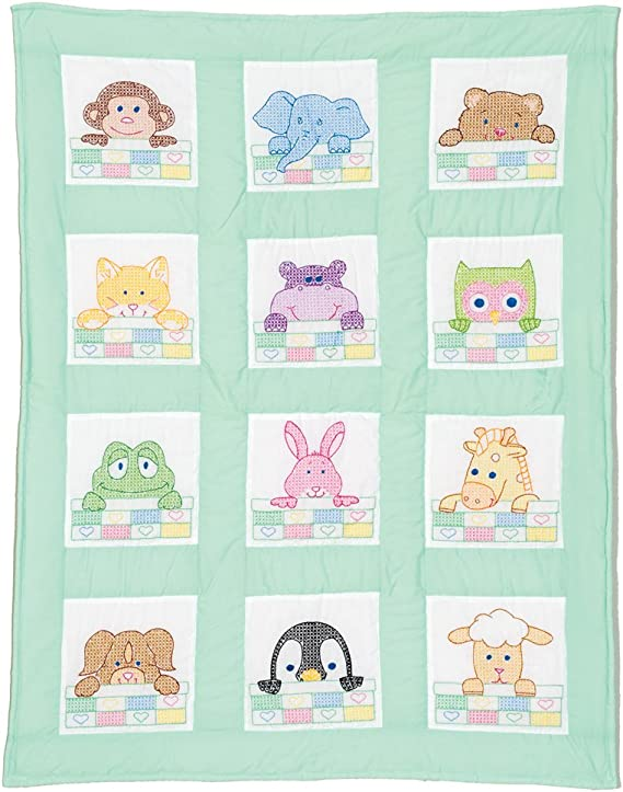 Beginner PinkLavenderAqua BABY QUILT KIT-Includes Backing-I Love To Dance-BallerinaTeddy BearBaby-Toddler Quilt Quick and Easy